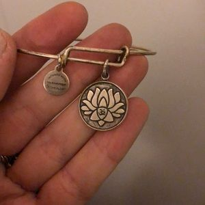 Alex and Ani lotus / ohm bracelet
